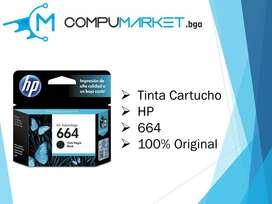 Cartucho de tinta HP negro 664 100% original nuevo y facturado