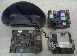 Set Completo de Inyeccion de Peugeot Partner 1.6 HDI - ECU Bosch EDC17C10 - BSI - BSM - Instrumental - Llave