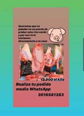 Cerdo fresco a 12.000 el kilo