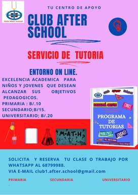 Tutoria  on line. TELETUTORIA