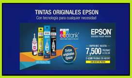 Tinta Original Epson 664 Kit 4 Colores L210,l380,l355,l395