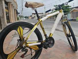 Bicicleta dorada super BIKE