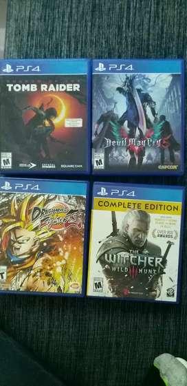 Vendo Juegos PS4 perfecto estado