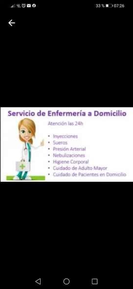 Servicio a domicilio de enfermería