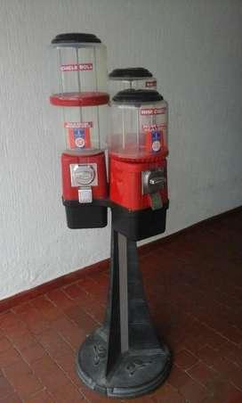 Máquinas dispensadora de Dulces de tres tarros marca Beaver referencia Tripton
