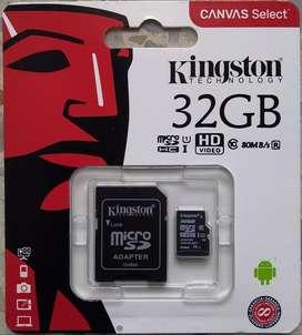 ASC NUEVO Memoria MicroSD 32 Gb KINGSTON Clase 10 ORIGINAL