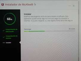 Antivirus Profesional McAfee por 12 meses mas instalación mas domicilio sin costo adicional