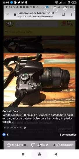 Nikon5100 trípode bolso filtro uv