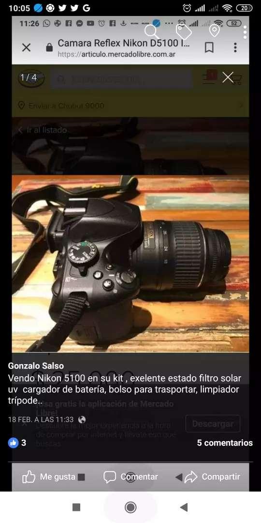 Nikon5100 trípode bolso filtro uv 0
