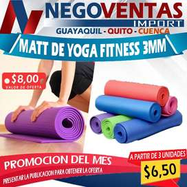 MATT DE YOGA FITNESS 3MM