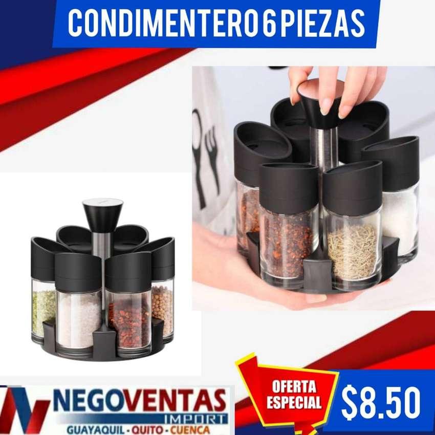 CONDIMENTERO DE 6 PIEZAS 0