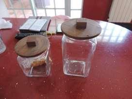 Tapas de madera para frascos muy decorativos
