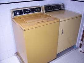 Las gemelas: lavadora y secadora General Electric