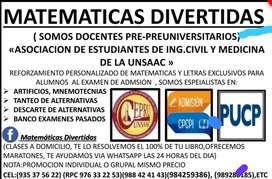 MATEMATICA  RM FIISICA A DOMICILIO CEPRU / CPCPI