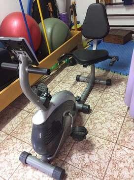 Bicicleta fija horizontal
