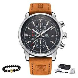 Reloj Para Hombre Benyar Con Cronometro Pulso En Cuero