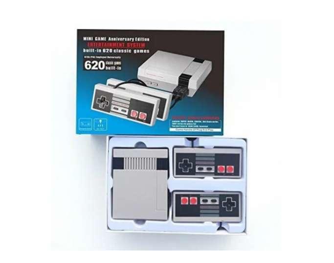 Mini Consola Tipo Nintendo Nes Con 620 Juegos Y 2 Controles