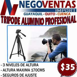 TRIPO PROFESIONAL DE ALUMINIO DE 170 CMS