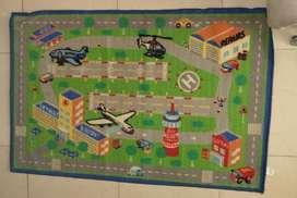 Alfombra Con Dibujos De Aeropuerto Para Niños.