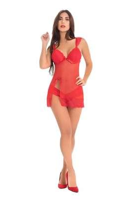 Baby Doll Embrujo rojo talla S a la XL