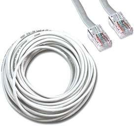 Cable Internet, Utp, Lan, Rj45 Categoria 6 Blanco Ponchado  VERIFICADO!