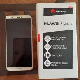 Se vende teléfono celular Huawei psmart en exelentes condiciones