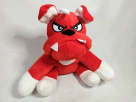 peluche bull dog rojo y conejo