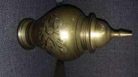 Jarrón en cobre grueso de 24cm alto x 36 de diametro antiguo
