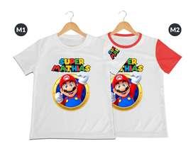 Camiseta para niños Super Mario Bros personalizada