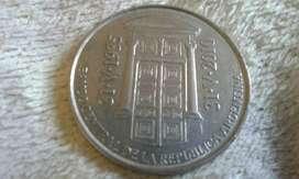 Moneda Argentina 2 Pesos Año 2010 Banco Central 75 Aniversario