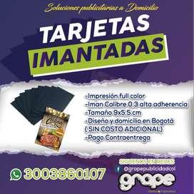 TARJETAS IMANTADAS PARA NEGOCIE 1000 UND