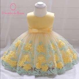Vestido Amarillo Flores Abajo