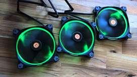 Vendo cooler fan x3 Thermaltake 120mm