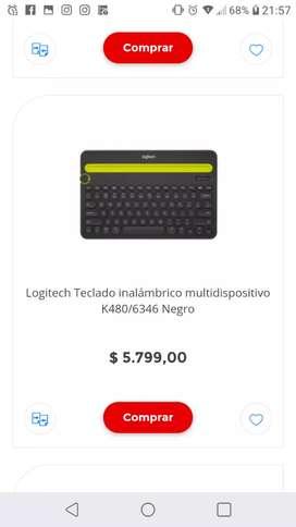 Logitech Teclado inalámbrico multidispositivo K480/6346 Negro