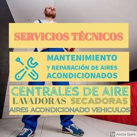 Servicios de Mantenimiento y Reparacion de aires acondicionados, lavadora / secadoras