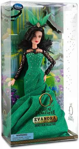 "Disney Oz, la gran y poderosa Evanora Wicked Witch of the East Doll - 11 1/2 ""H"