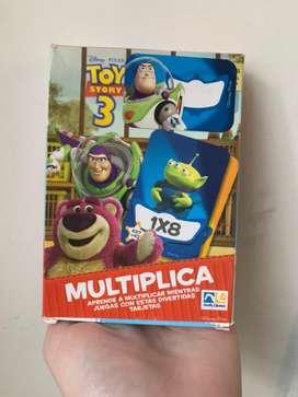 Cartas par aprender a multiplicar de Toy Story usadas