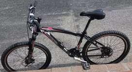 Vendo bicicleta Benotto en aluminio con partes shimano