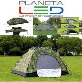 Carpa Tienda Camping Para 4 Personas Impermeable Montaña