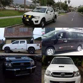 Alquiler de camionetas y traslado de personal