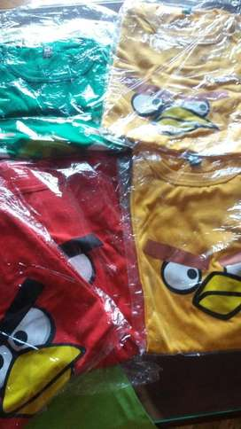 Remeras Angry Birds