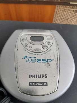 Reproductor de CD, marca Philips, años 90s.