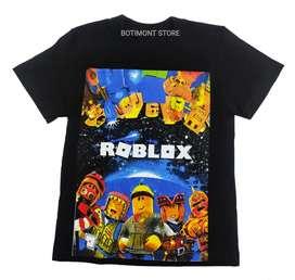 Camiseta ROBLOX negra. Video juegos