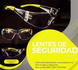 LENTES DE PROTECCION.Delivery gratis en Lima