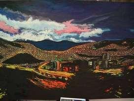 Medellin, pinturas, cuadros, oleo y acrílico obras de arte.