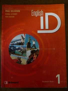 Libro English ID 1 Usado con su Workbook en muy buen estado.