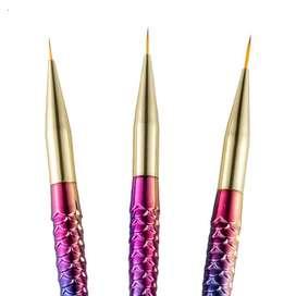 Set x 3 uni pincel sirena para nail art