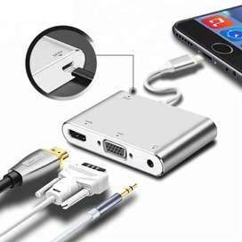 ADAPTADOR LIGHTNING A HDMI, VGA Y AUDIO