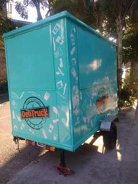 Tráiler food truck de comidas rápidas