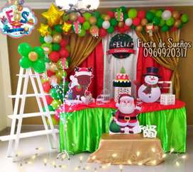 Decoraciones de eventos navideños y fiestas infantiles